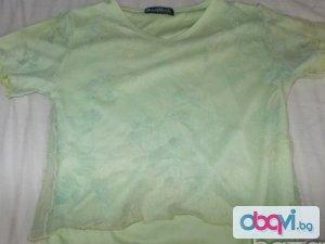 Двупластова дантелена блузка за момиче от 8 до 14 години