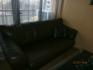 кожен разтегателен 3 местен диван