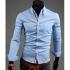 """Мъжка риза - светло синя New men's shirt рамер """"L"""""""