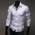 """Мъжка риза - бяла New style размер """"XL"""""""