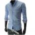 """Мъжка риза - светло синя Skew Line размер """"L"""""""