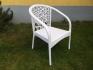 НОВО! Стол от изк.ратан BR 2050 бял
