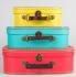 Сет от три ярки ретро куфарчета