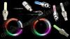 Светеща LED капачка за вентил на гума + ПОДАРЪК батерии