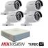 Комплект от 4 камери HIKVISION 1MP за външен монтаж + DVR 4 канален
