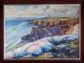 Маслена картина летен пейзаж море морски масло цветя