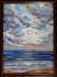 Маслена картина летен пейзаж море морски масло небе облаци