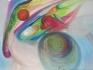 """Планети"" - голям формат, масл. бои върху платно, ферниса"