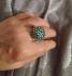 Искрящ пръстен в синьо