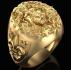Мъжки пръстен злато с облика на лъв