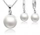 Моден комплект със сладководни перли