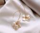 Висящи обици с естествени перли